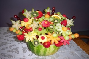 Заработок на  букетах из фруктов